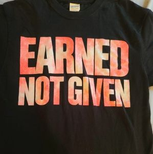 """Earned Not Given"" T-Shirt For Cheerleaders"